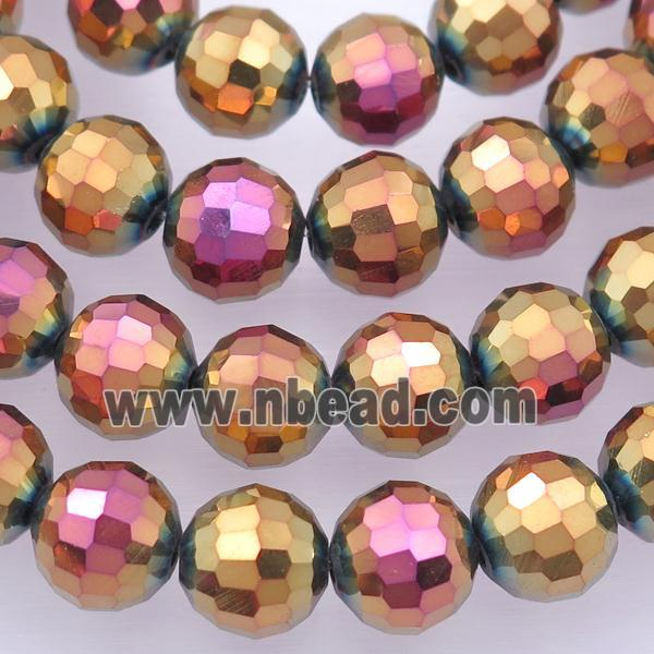 Chinese Crystal Glass Beads, faceted round