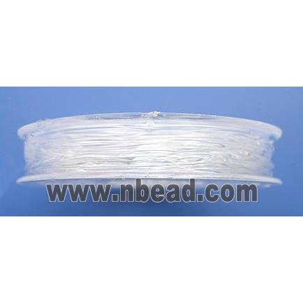stretchy Crystal Wire, round, fine grade, japan, clear