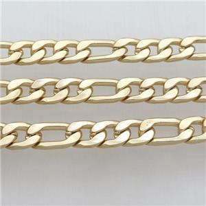 alloy chain, duckgold plated, approx 10-14mm, 10-19mm
