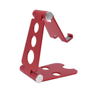 Adjustable Cell Phone Stand, Aluminum, Portable Desktop Phone Holder Dock, red, approx 15-131MM