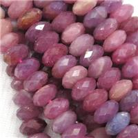 Tanzanian Ruby Beads, faceted rondelle, approx 3x5mm
