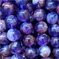 round Purple Phantom Beads, approx 6mm dia