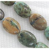 Azurite beads, flat oval, approx 10x14mm