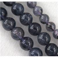 iolite stone beads, round, approx 8mm dia
