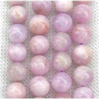 round Kunzite Beads, pink, A-Grade, approx 8mm dia