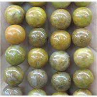 yellow Sinkiang Quartzite Beads, round, approx 4mm dia