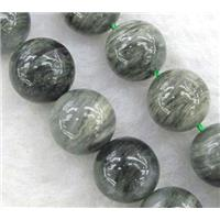round natural Seraphinite Beads, approx 6mm dia, 15.5 inches