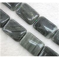 natural Seraphinite beads, rectangle, approx 25x35mm, 15.5 inches