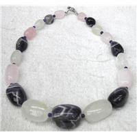 gemstone necklace, freeform, approx 15-20mm, 15 inches