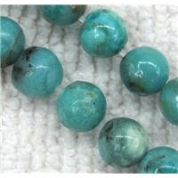 Chinese Larimar Beads, round, blue, approx 6mm dia, 15.5 inches