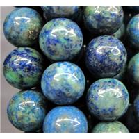 round Azurite Beads, approx 12mm dia