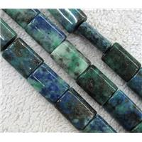 Azurite beads, rectangle, approx 10x14mm
