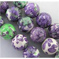 rainforest stone beads, deep-lavender, stability, round, 4mm dia, approx 100pcs per st