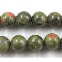 round Unakite beads, 6mm dia, approx 67pcs per st.