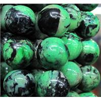 natural Chrysotine bead, round, green, 10mm dia, approx 38pcs per st