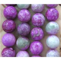 faceted round purple Sugilite beads, dye, approx 6mm dia