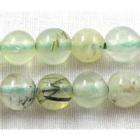 Prehnite Beads, AA Grade, Round, 6mm dia, approx 65pcs per st.