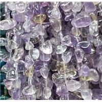 purple fluorite chips bead, teardrop, freeform, approx 8-15mm, 16 inch(40cm) long