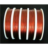 Jewelry binding wire, Tiger tail, red, 0.45mm(.018 inch), 70meters per roll