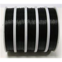 black Tiger tail, Jewelry binding wire, 0.45mm(.018 inch), 70meters per roll