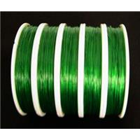 Jewelry binding wire Tiger tail green, 0.45mm(.018 inch), 70meters per roll